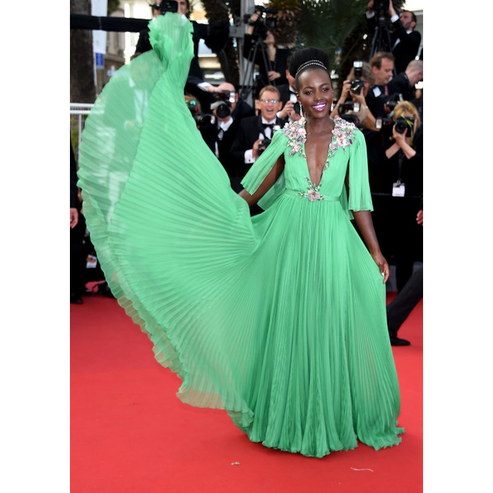 Snapshots. Lupita Nyong\'o Stuns in a Green Gucci Gown At Cannes ...