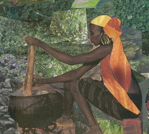 Affordable Art. Collage Images of the Diaspora by Mirlande Jean-Gilles.