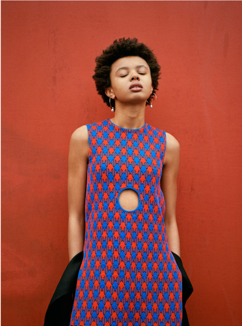 Editorials. Poppy Okotcha in Celine For Lurve. Images by Valerio Spada. Styling by Moreno Galatà.