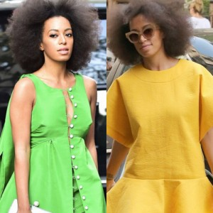Lemon. Lime. Solange Rocks Two Citrus Hued Outfits.