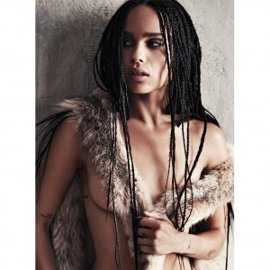 Zoë Kravitz. GQ Magazine.  Images by Steven Pan.
