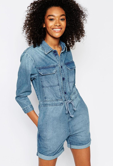 ASOS Denim 70's Paneled Romper