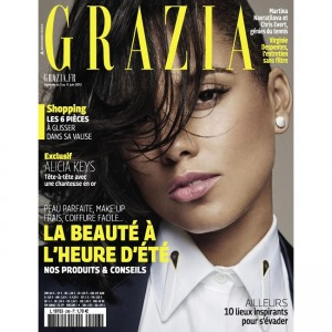 Editorials.  Alicia Keys.  Grazia France.  Images by Nico.