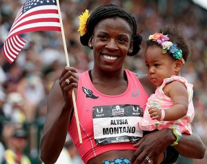 Alysia Montaño Wins 800 Meter Race After Giving Birth Less Than a Year Ago.
