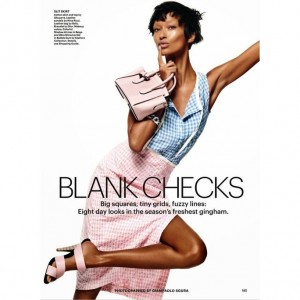 Editorials.  Anais Mali.  Allure Magazine May 2015. Images by Giampaolo Sgura.