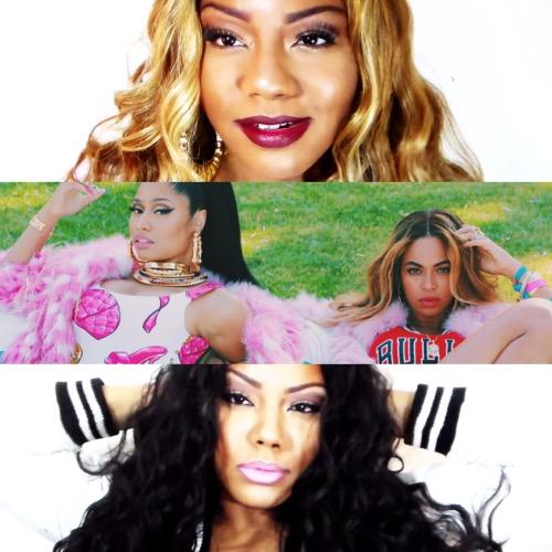 Beyonce Nicki Minaj Beauty Fashion Make-up Ashley Chennel