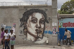 Haitian Street Artist Jerry Rosembert Critiques The Government and NGOs and Addresses Gender Inequality in Haiti.