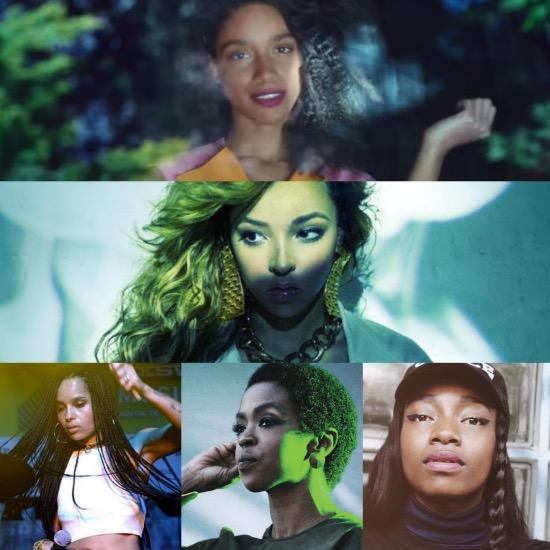 Lianne La Havas, Lauryn Hill, Tinashe, Little Simz, Lolawolf