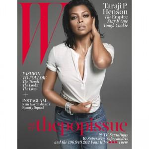 Editorials.  Taraji. P. Henson Rocks Sultry Looks For W Magazine.