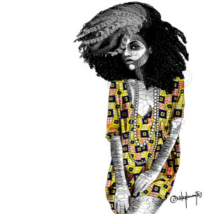 Art.  Ankara-inspired Illustrations by Udegbunam TBJ.