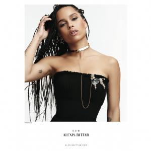 Zoë Kravitz Fronts Alexis Bittar Fall 2015 Campaign.