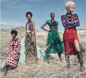 Editorials.  Ajak Deng. Amilna Estevão. Anais Mali. Aya Jones. Binx Walton. Tami Williams. W Magazine August 2015.