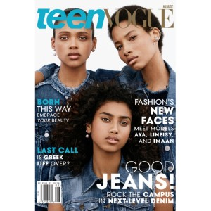 Three Black Models Cover Teen Vogue's August 2015 Issue.