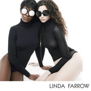 Ads. Betty Adewole and Nichole Martinez For Linda Farrow Eyewear AW15.