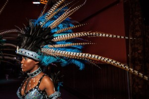 Images.  Behind The Scenes at a West Indian Day Parade Fashion Show.