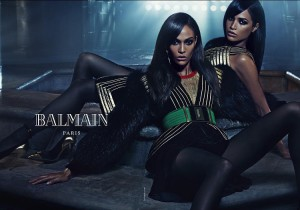 Sister Act.  Joan Smalls and Erika Smalls Star in Balmain's Latest Campaign.