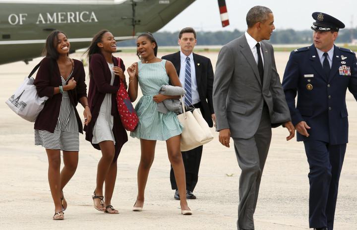 Sasha Obama President Obama