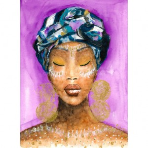 Affordable Art. Beautiful Original Illustrations of Black Women and Girls Available at Yellow Rose.