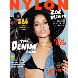 Zoë Kravitz Covers Nylon Magazine August 2015.  Talks About Coming to Appreciate Black Culture.