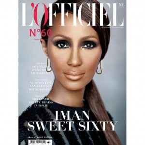 Editorials.  L'Officiel Netherlands Celebrates 60 Years with 60-Year-Old Model Iman.