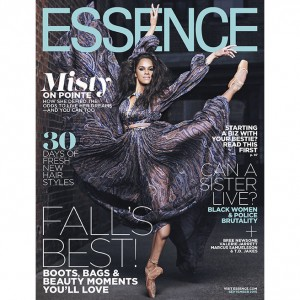 Misty Copeland Covers Essence Magazine's September 2015 Issue.
