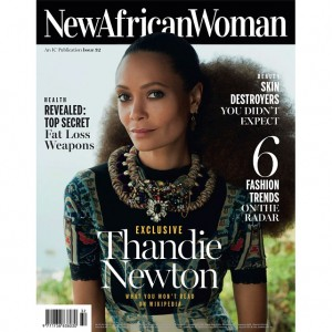 Editorials.  Thandie Newton Covers 'New African Woman.'