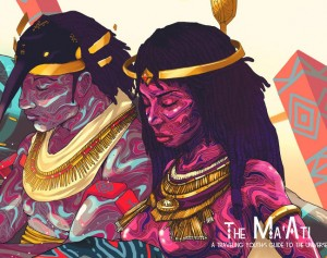 Globetrotting.  The Ma'Ati is a Graphic Novel and Travel Magazine Hybrid.