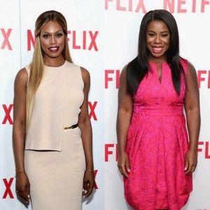 Snapshots.  Uzo Aduba and Laverne Cox at 'Orange Is The New Black' FYC Screening.
