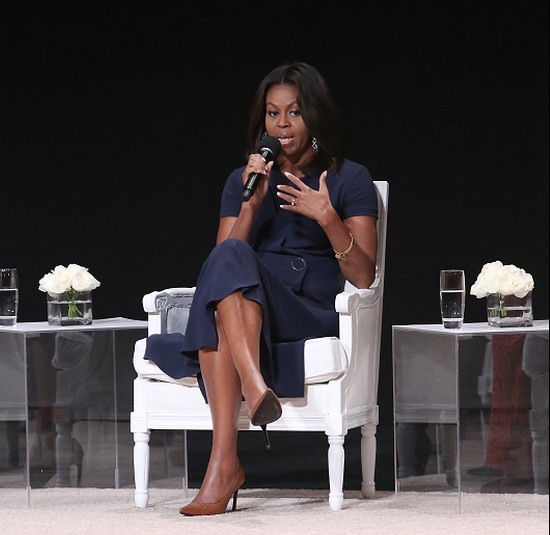 Michelle Obama Gives Advice to 1,000 Schoolgirls in Harlem: 'There Is No Boy Cute Enough or Interesting Enough to Stop You From Getting Your Education.'
