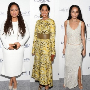 On the Red Carpet.  Ava DuVernay, Zoë Kravitz, Tracee Ellis Ross, and More at the Elle 'Women in Hollywood' Awards.
