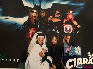 Beyoncé Rocks a Perfect Storm Costume at Ciara's Superhero-Themed 30th Birthday Bash.