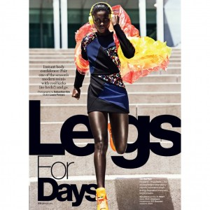 Editorials. Jeneil Williams. Glamour Magazine.  Images by Sebastian Kim.