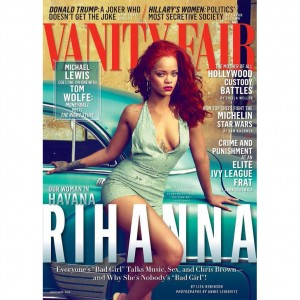 Rihanna Covers Vanity Fair.  Talks Rachel Dolezal and Opens Up About Chris Brown.