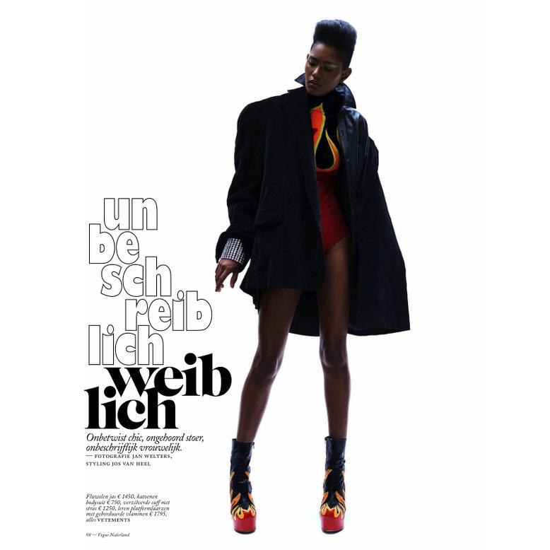 Ysaunny Brito Vogue Netherlands Black Fashion Models