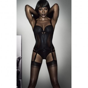 Naomi Campbell Models Looks From the Lingerie Collection That She Designed.