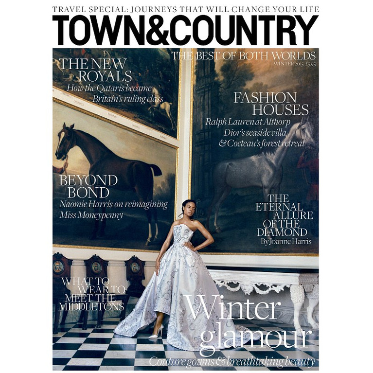 Shot by Koto Bolofo Naomie Harris stuns in Alexander McQueen Cartier and  more in a series of images for the Winter Issue of Town  Country