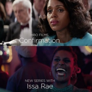 First Look.  Catch a Sneak Peek of Issa Rae's Upcoming HBO Series and Kerry Washington in the HBO Movie 'Confirmation.'