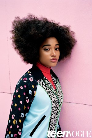 Amandla Stenberg Covers Teen Vogue's February 2016 Issue.  Is Interviewed by Solange.