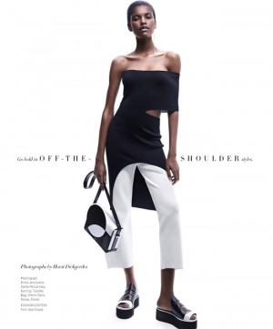 Editorials.  Amilna Estevão.  Harper's Bazaar February 2016.  Images by Horst Diekgerdes.
