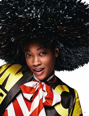 Editorials. Betty Adewole.  Elle Italia February 2016.  Images by Alexei Hay.