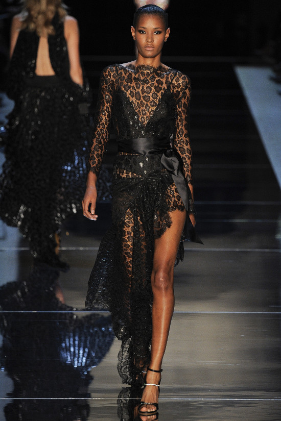 black models on the runway couture fashion week spring