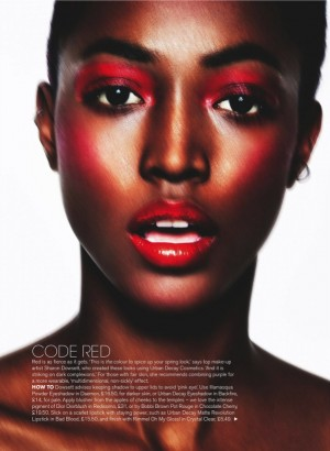 Beauty. Genesis Vallejo.  Marie Claire UK February 2016.  Images by Mark Cant.