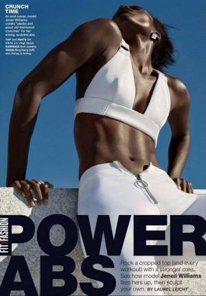Editorials. Jeneil Williams.  Shape Magazine January 2016.  Images by Robbie Fimmano.