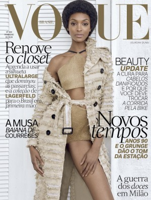 Jourdan Dunn Appears on 2 Covers For Vogue Brasil's February 2016 Issue.