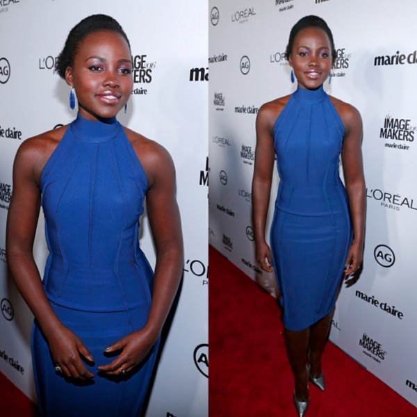 Lupita Nyon'go Blue Dress Mugler