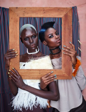 Editorials.  Ajak Deng and Maria Borges. 'Africa is Rising.' For Models.com.