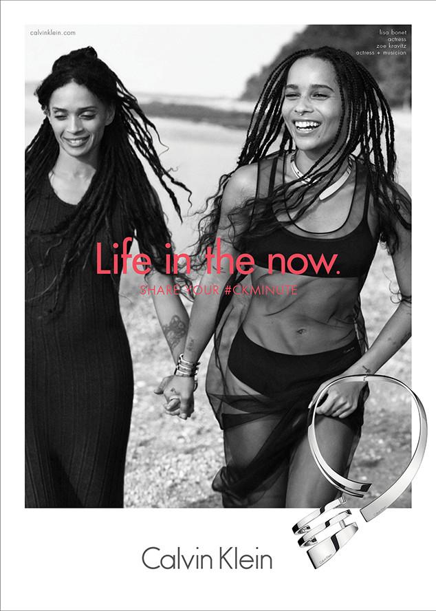 Lisa Bonet Zoe Kravitz Calvin Klein