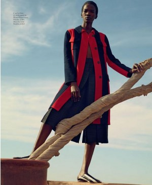 Editorials. Aamito Lagum. Porter Magazine Spring 2016. Images by Mel Bles.