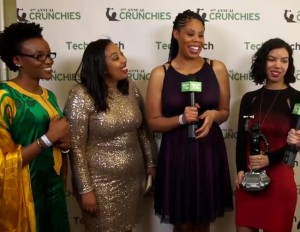 Four Black Female Engineers Accept The 'Fastest Rising Startup' Award at This Year's Crunchies.