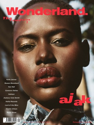Editorial. Ajak Deng. Wonderland. Images by James White.